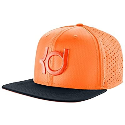 NIKE Men's KD Dri-FIT Performance Snapback Cap One Size Bright Citrus Orange Gray