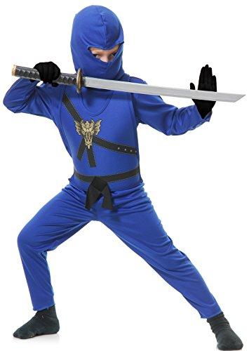 Nice Charades Child's Ninja Avenger Costume Jumpsuit, Blue, Medium hot sale
