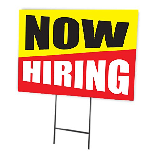 - Now Hiring Full Color Double Sided Sign
