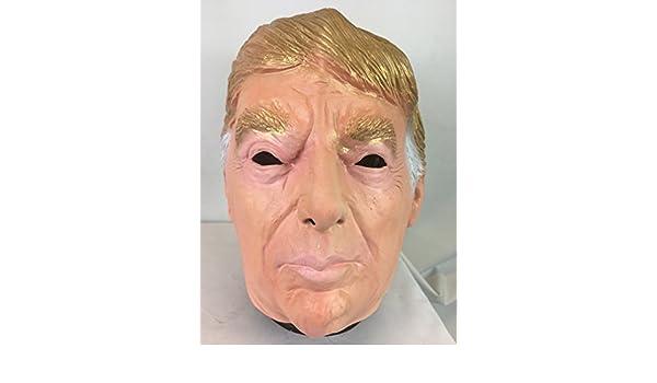 DONALD TRUMP Máscara LUJO látex en la parte de arriba EUA político Disfraz Máscaras: Amazon.es: Juguetes y juegos