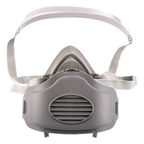 Vivianer 1Pc Dust Masks Reusable Respirators Dust Mask Half Face Mask Safety Protective Dustproof Anti Haze Mask with 10pcs Filters