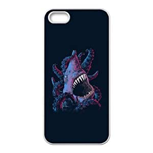 iPhone 5 5s Cell Phone Case White shark x octopus