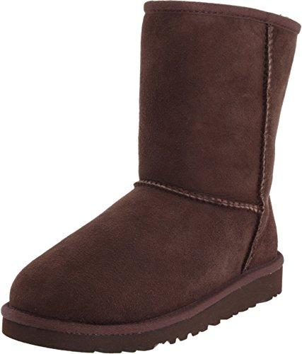 UGG Australia Girls' Classic Short Sheepskin Fashion Boot Chocolate 6 M US Australia Classic Short Boots