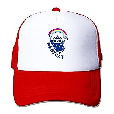 Magic Cat Adjustable Snapback Baseball Cap Custom Mesh Trucker Hat by Huishe1