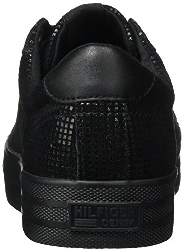 Tommy N1385ice Basses 1z2 Femme Jeans Noir black Sneakers r1arw