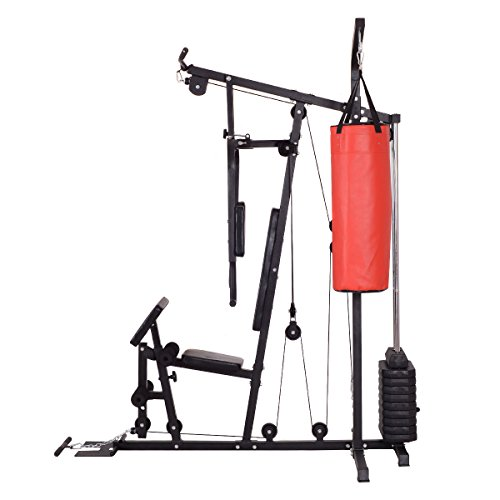 Home Gym Heavy Bag: Goplus 100 Lb Stack Home Gym Exercise Equipment Machine