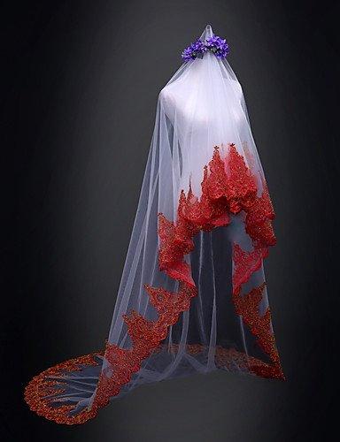 buy online e4869 18ff5 wedding veils FJY&TS Einschichtig Brautkleidung Hochzeit ...