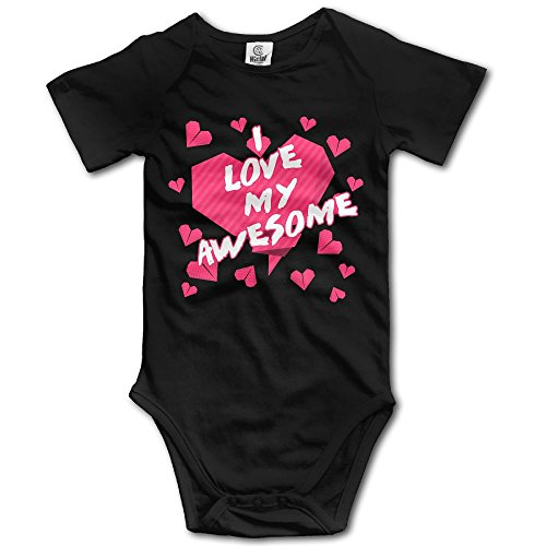 FURYFGJ I Love My Awesome Wife Be My Valentines Funny Baby Onesie Cotton Baby Toddler Short Sleeve Bodysuits