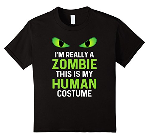 Kids Zombie Halloween Shirt Funny Costume 12 Black