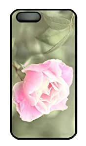 iPhone 5S Case - Customized Unique Design Pink Rose 4 New Fashion PC Black Hard