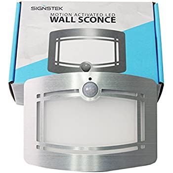 Signstek 10 LED Wireless Light-operated Motion Sensor Activated Battery Operated Sconce Wall Light  sc 1 st  Amazon.com & Luxury Aluminum Case Wireless Stick Anywhere Battery Powered ... azcodes.com