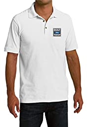 Mens Built Ford Tough White Pique Polo Shirt 4XL