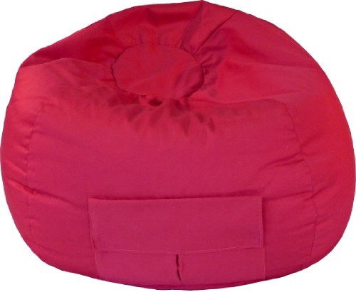 Gold Medal Bean Bags 31014084907 XX-Large Denim Bean Bag with Pocket, Red