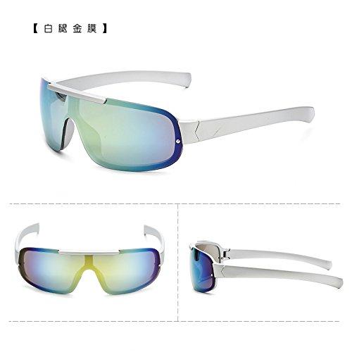 coupe - vent des bicyclettes motocyclettes lunettes de soleil à lunettes course sports de plein air des lunettes de soleil les hommes et les femmes marée lunettes de soleilpattes blanches or film (sac Zhs0GrlQRH