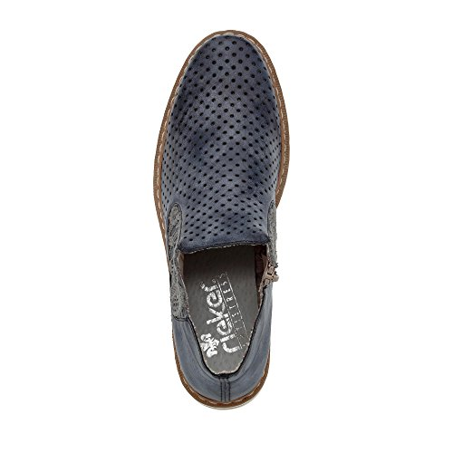 Jeans Stiefelette Rieker Blu Blau Damen Denim Donna Sneaker XvXx8aq
