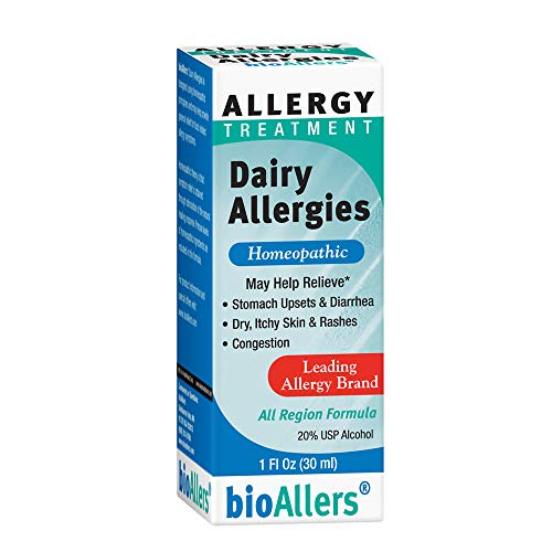 bioAllers Dairy Allergies Homeopathic Allergy Treatment for Upset Stomach, Diarrhea, Skin Issues & Congestion | 1 Fl Oz (Best Hayfever Relief For Tree Pollen)