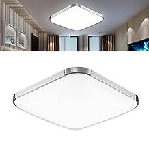12-inch LED Ceiling Light Square Aluminum Flush Mount Bedroom Living Room Day White 12W