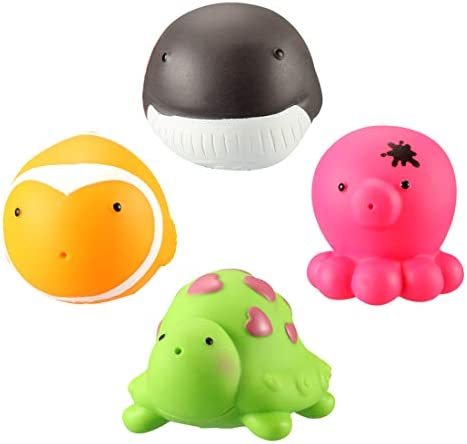 ZUOMAプールトイ キッズ玩具 プール遊び お風呂玩具 動物玩具 パズル玩具 0-4歳 夏の定番 楽しみ (セット)
