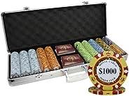 500 Ct Monte Carlo Poker Club 14 gram Poker Chip Set Aluminum Case Custom Build