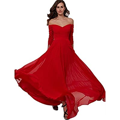 Young17 Women's Ball Gown Off The Shoulder Prom Dress Wedding Dresses Evening Gown