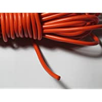 10Ft.30KV DC 18AWG High Voltage Wire Cable Rubber Silicone-Telsa Laser Neon (RED)