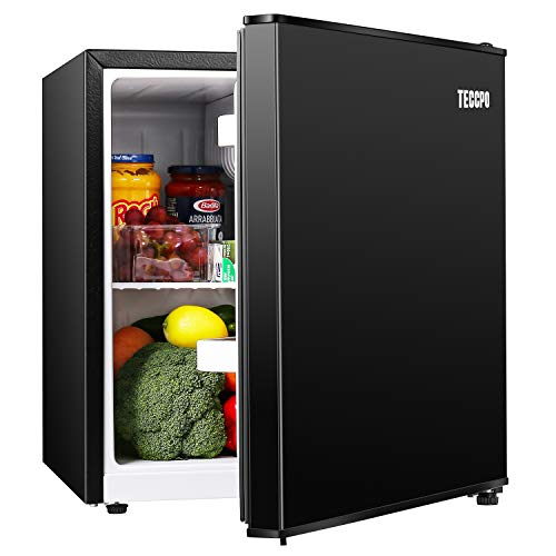 Mini Fridge, TECCPO 1.7 Cu.Ft. Small Refrigerator, Energy Star, 6 Adjustable Thermostat Control, One-touch Easy Defrost, 37 dB, Compact Refrigerator for Bedroom, Dorm, Office – TAMF30