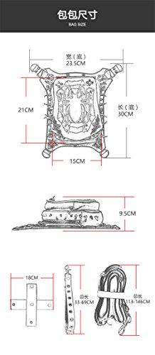 Steam Punk Motorrad Schulter Spiess Tasche Multifunktional Spider Tasche GCfUoqF0U