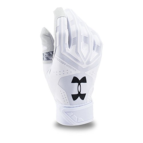 Under Armour UA Motive Batting Gloves LG White by Under Armour