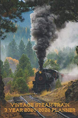 Vintage Steam Train 3 Year 2020-2022 Planner: Compact and Convenient 3 Year 2020-2022 Planner
