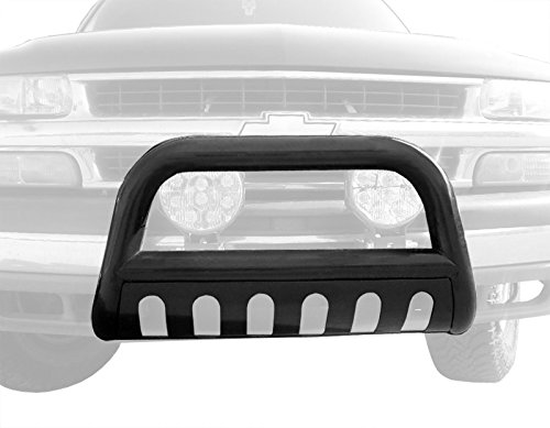 Tyger Auto TYGER Black Bull Bar Bumper Brush Guard with Skid Plate Fits Avalanche/Silverado/Suburban/Tahoe/Sierra/Yukon - Avalanche Brush Guards