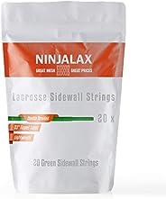 Ninjalax Lacrosse Sidewall Strings - 33 inch - Tipped - 20 Pack