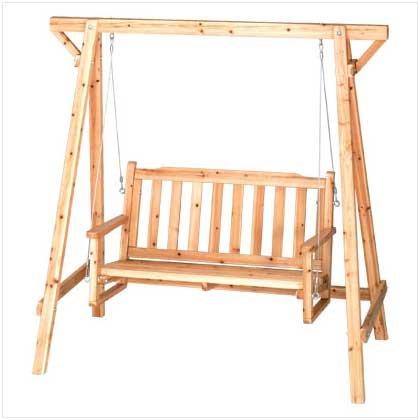 TOM & CO. Weatherproof Wood Home Patio Garden Decor Bench...