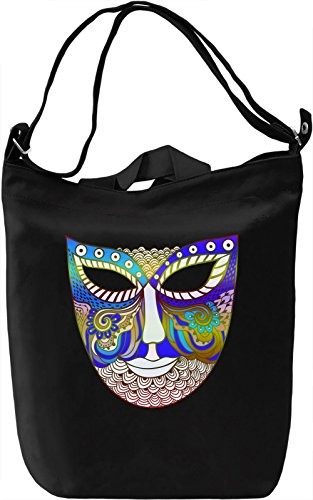 Graphic Blue Mask Borsa Giornaliera Canvas Canvas Day Bag| 100% Premium Cotton Canvas| DTG Printing|