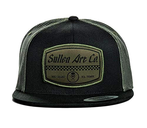 - Sullen Men's Greaser Trucker Snapback Hat Black Green