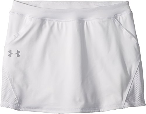 Under Armour Girls' Play Up Skort, White (100)/Overcast Gray, Youth -