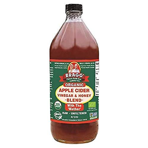With Apple Cider Bragg Mother Vinegar (BRAGG 16 oz. Organic Apple Cider Vinegar & Honey Blend)
