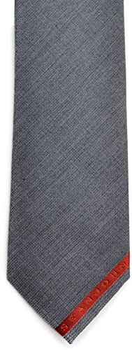 Sean John Mens 3 Am Wool/Silk Blend Slim Regular Tie Gray O/S