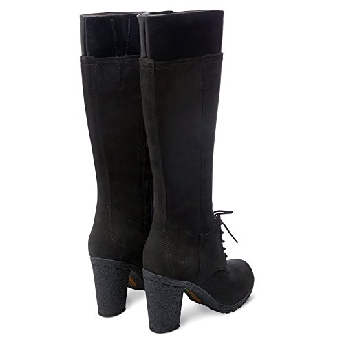 Timberland Mujeres Negro Glancy Tall Lace with Zip Botas Negro