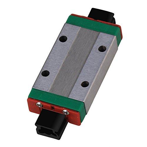 CNBTR MGN9H Mini Bearing Steel Extension Linear Sliding Guideway Rail Block Silver for Precise Measurement Equipment