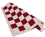 Standard Vinyl Roll-Up Tournament Chess Mat, 20'' x 20'' - Burgundy