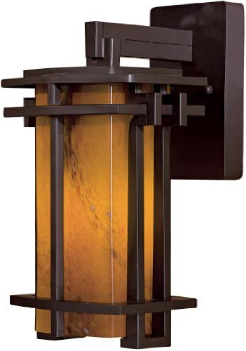 The Great Outdoors 72011-615B-PL 1 Light Wall Mount 1-13W Dorian Bronze Lugarno Square
