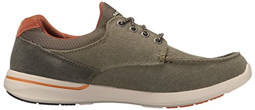 Skechers Men's Relaxed Fit-Elent-Mosen Boat Shoe Olive buy cheap big sale ct0Ngin