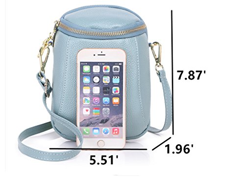 Phone Small Women S7 Plus Cell Iphone Crossbody Zg For S8 6 Blueish Galaxy 8 Edge 7 Greenish 6s And Samsung Purse Fits qTxYIdA