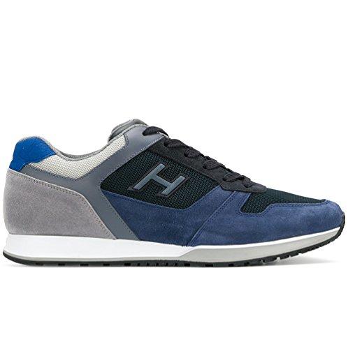 H321 Hogan 5 H 8 N 3D scarpe uomo HXM3210Y861I7J785K mod allacciato no blu UK etich HEqZEwr