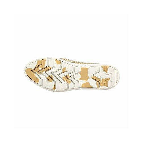 Pic / Betale Allyce Womens Leiligheter - Python Preget Slip-on Sneaker Bronse Metallic Phyton Print