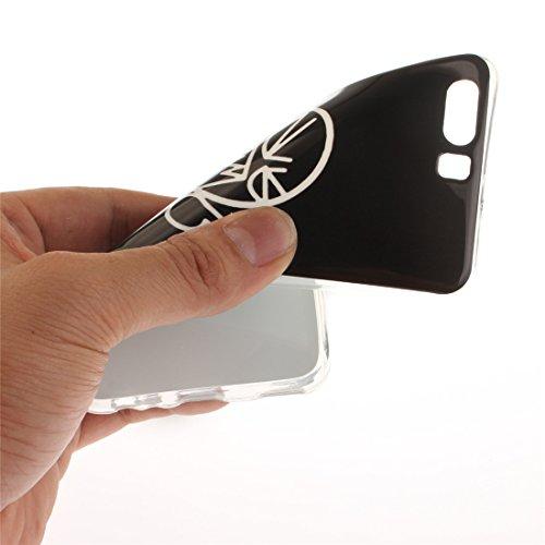 Cas Scratch De Fit Slim Couverture curse Huawei Bord Silicone Transparent En De Motif Antichoc Peint Souple Protection Téléphone P10 Cas Hozor Arrière TPU Résistant P6H7Exx