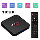 (US) TICTID M9C max Android 6.0 TV Box Amlogic S905X Quad-core 64 bits [2GB DDR3/16GB eMMC] with Kodi 16.1 H.265 HDMI 2.0 VP9 HDR Video Decoder 4k 2k Output 2.4G WIFI Streaming Media Player