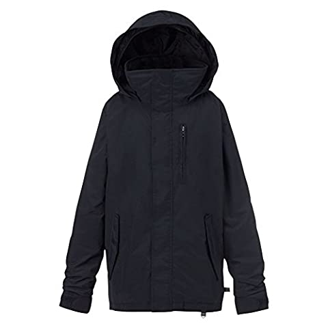 Burton Boys Link System Jacket, True Black, Medium - Expandable Dj System