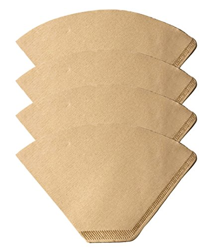 400 Replacements for #2 Coffee Filters Unbleached, All Natural, Brew Brown Paper Cone, Fits All Coffee Makers With #2 Number 2 Coffee Basket Holder including Melitta, by Think Crucial (Brew Peoples Basket)