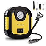 Air Compressor Tsumbay Tire Inflator 12V 150 PSI LED Lights Air Pump, Suitable